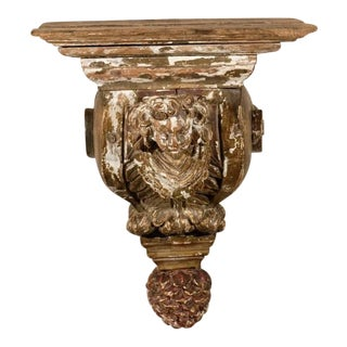 18th Century Italian Carved Wood Bracket