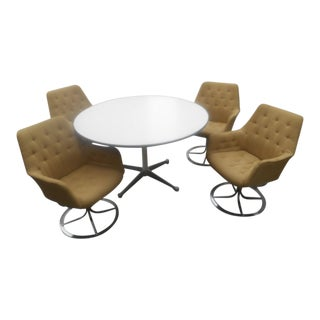 Bruno Mathsson for Dux Chairs & Herman Miller Table