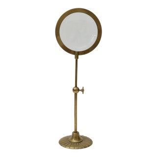 Mid-Century Adjustable Brass Magnifier