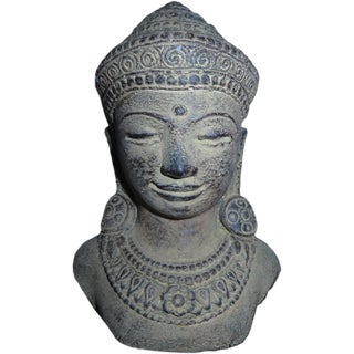 Cement Buddha Head Figure