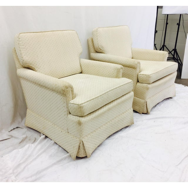 Vintage Henredon Club Chairs - a Pair - Image 3 of 6