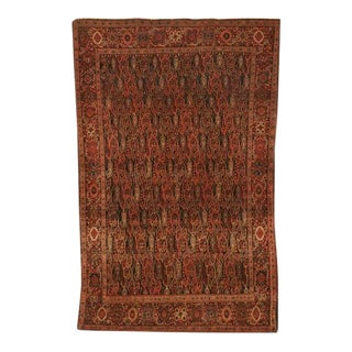 Antique Persian Bidjar Rug - 4′ × 6′4″