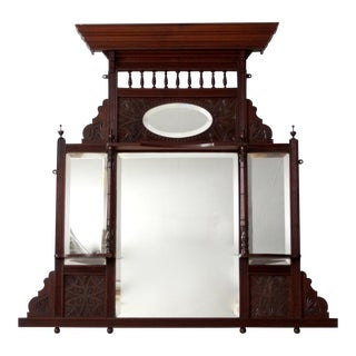 1860s Victorian Over-Mantle mirror
