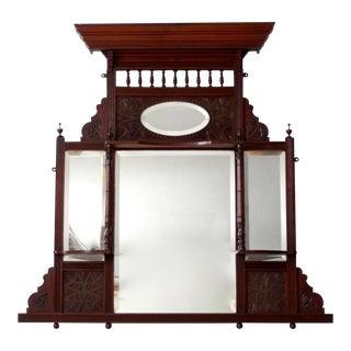 Victorian over-mantle mirror