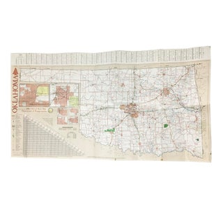 1986 Vintage Oklahoma Official State Map
