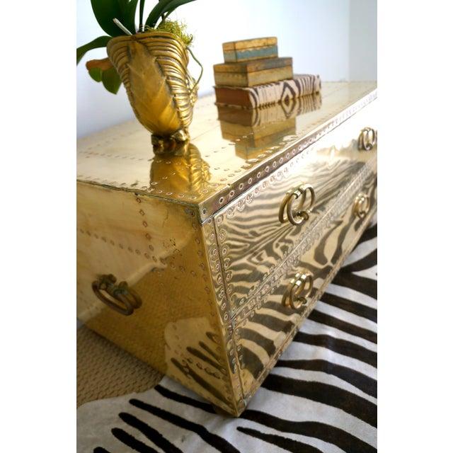 Brass Studded Sarreid Chest - Image 10 of 11