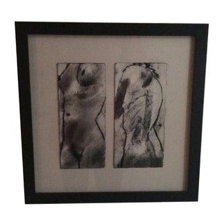 """Nude 3"" Charcoal Drawing by Matt Alston"
