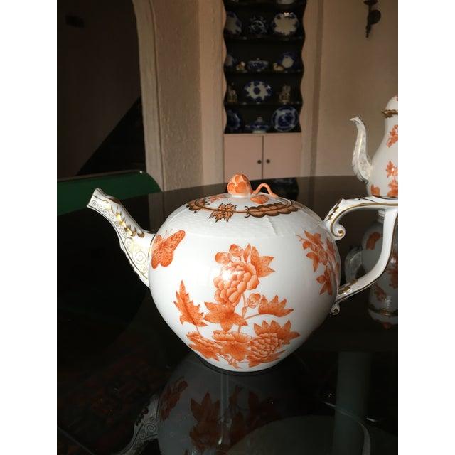 Herend Fortuna Pattern Tea Set - Set of 7 - Image 10 of 11