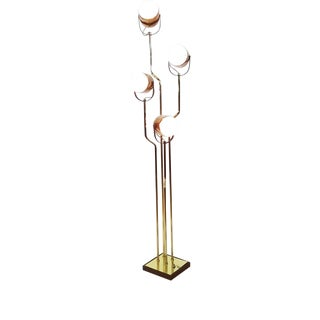 Reggiani 4-Light Brass Floor Lamp