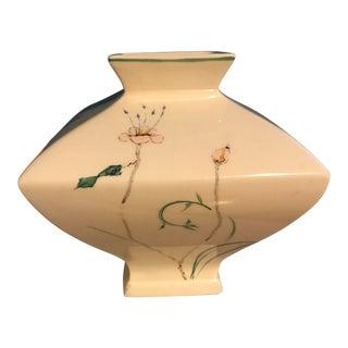 Vintage Hand Painted Asian Modern Vase