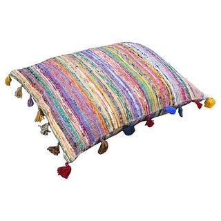Striped Boucherouite Floor Pillow