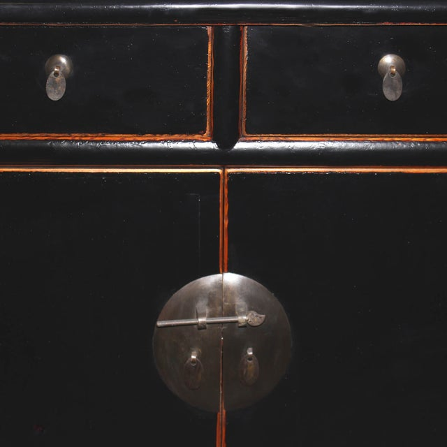 Two-Drawer Black Lacquer Cabinet - Image 4 of 5