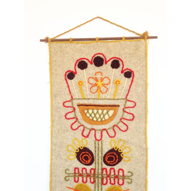Vintage Mid Century Woven Wall Hanging - Poland - Image 3 of 6
