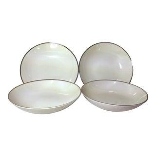 Noritake White Platinum Fruit Dessert Sauce Bowls - Set of 4
