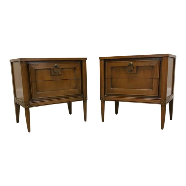 Image of Basic Witz Mid Century Nightstands - a Pair