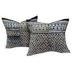 Image of Tribal Indigo Batik Pillows - Pair