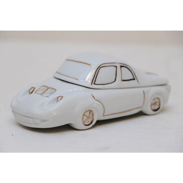White Porcelain Car-Shaped Stash Box - Image 2 of 6