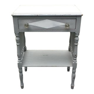Shabby Cottage Chalk Painted Side Table