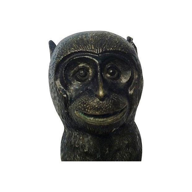 Image of Antique Japanese Meiji Period Bronze Monkey Bust