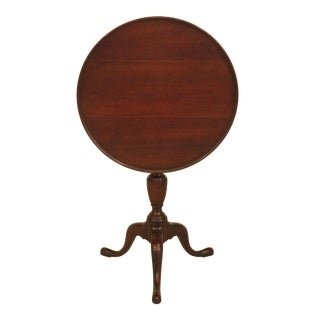 Kittinger Open Pore Heirloom Mahogany Tilt Top Table