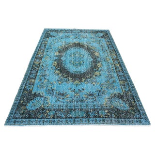 "Turqoise Color Overdyed Rug - 5'9"" X 9'8"""