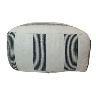 Black & White Striped Moroccan Ottoman