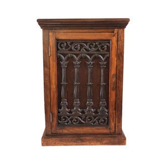 Mango Wood & Iron Bedside Cabinet