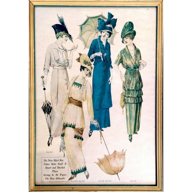Image of Framed Antique Fashion Advertisements- A Pair