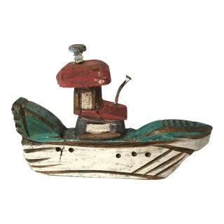 Folk Art Ship Carving
