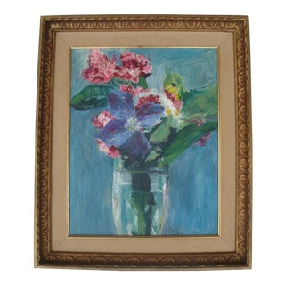 Abstract Floral Bouquet in Glass Jar