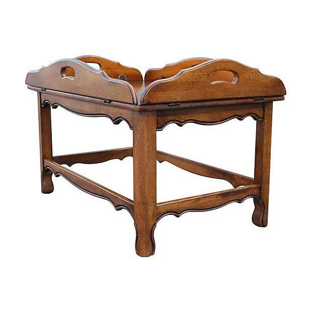 Midcentury Modern Tray Top Coffee Table Chairish