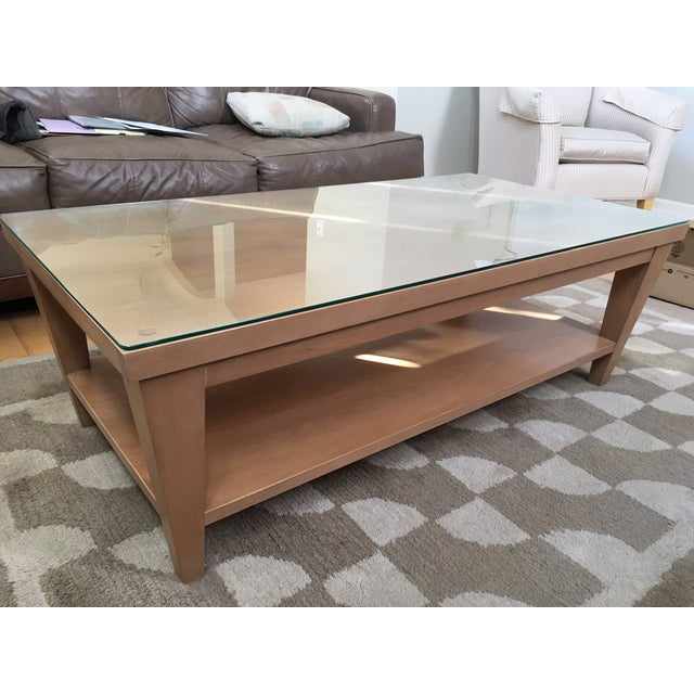 Ethan Allen Coffee Table Glass Top: Ethan Allen Coffee Table