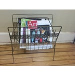 Image of Hollywood Regency Brass Magazine Rack