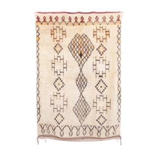 "Vintage Azilal Moroccan Rug - 4'1"" x 6'1"""