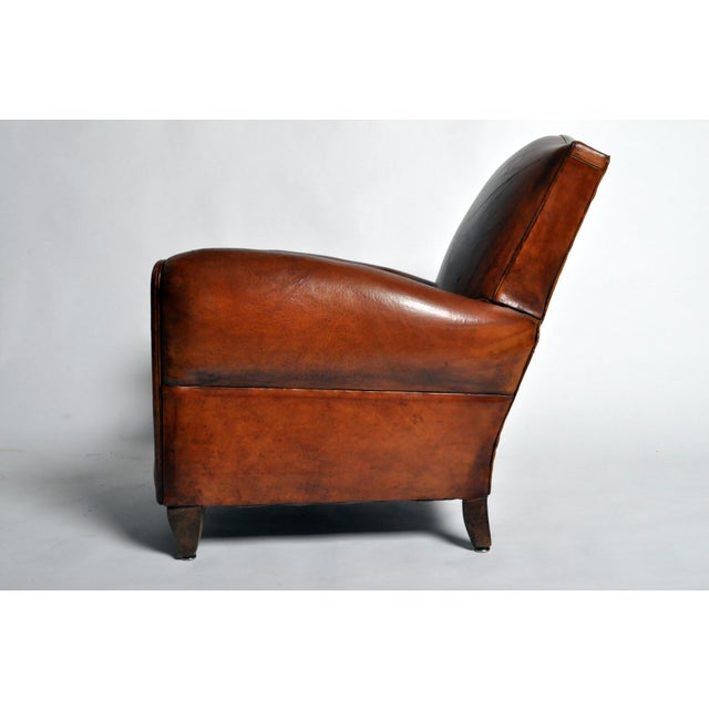 Art Deco Leather Club Chair - Image 4 of 11