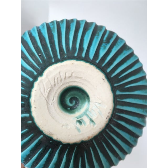 Studio Ceramic Teal Vase - Image 8 of 8