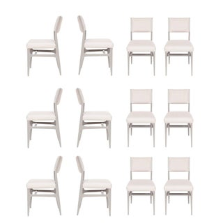 Set of 12 Maze Lacquered Dining Chairs