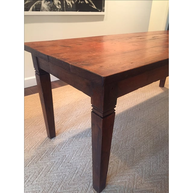 Reclaimed Wood Rectangular Rustic Dining Table - Image 4 of 5