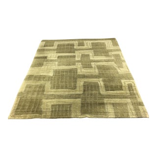 Tibetan Vegetable Dyed Wool Rug - 4′12″ × 6′11″