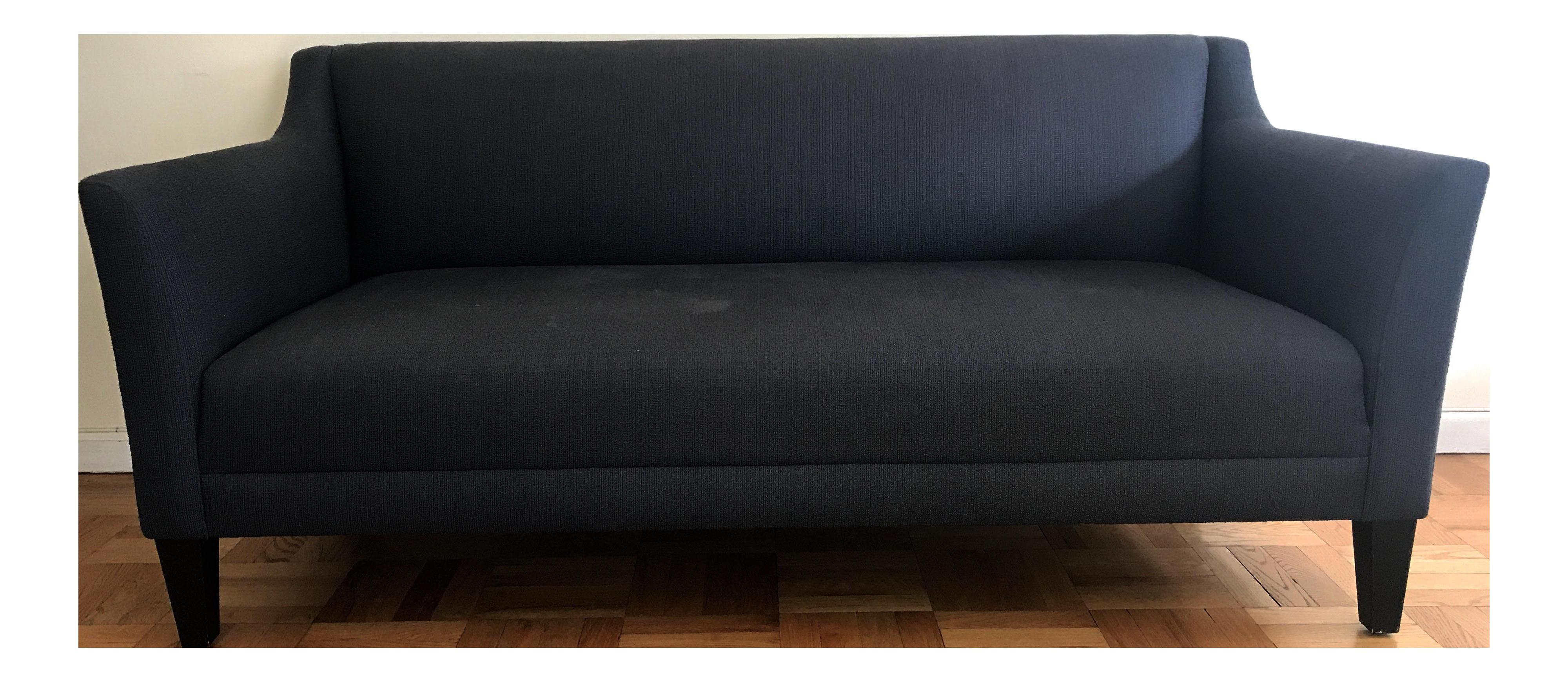 midnight blue margot sofa from crate u0026 barrel