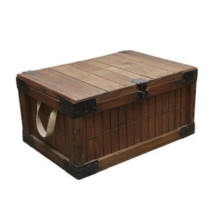 Slated Wooden Delivery Box with Lid