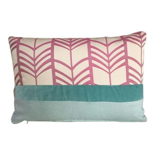 Kim Salmela Modern Pink Patchwork Pillow