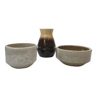 Mid-Century Modern Pottery - 3 Piece Collection