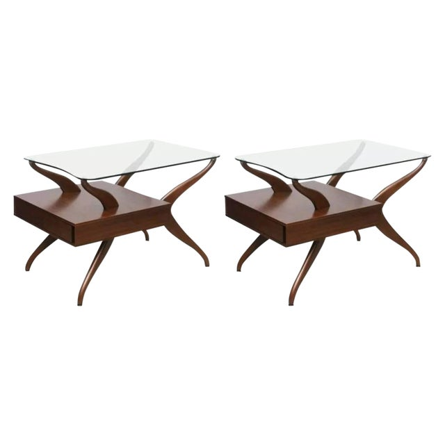 Kagan-Style Biomorphic Side Tables - A Pair - Image 1 of 6