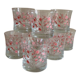 Cherry Blossom Highball Glasses - Set of 8