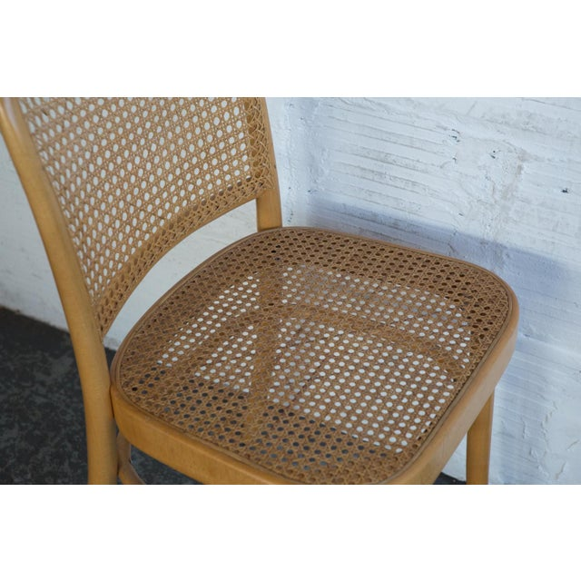 Prauge Cane Bentwood Woven Side Chairs - Set of 4 - Image 8 of 11