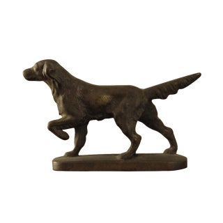 Cast Iron Traveling Dog Statue
