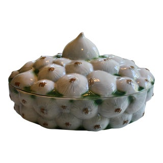 Neiman Marcus Italian Garlic Bulb Tureen / Covered Casserole Dish