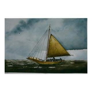 """The Skipjack"" Original Watercolor Painting"