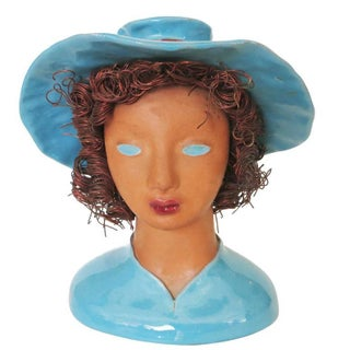 """California Pottery """"Becky"""" Bust by Hermione Palmer"""
